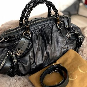 Authentic Gucci Leather Chain Purse